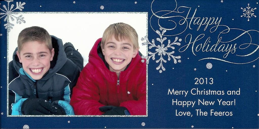 Brandon, Blake, Christmas, 2013
