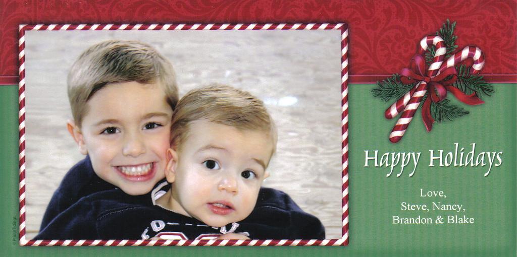 Brandon, Blake, Christmas, 2005