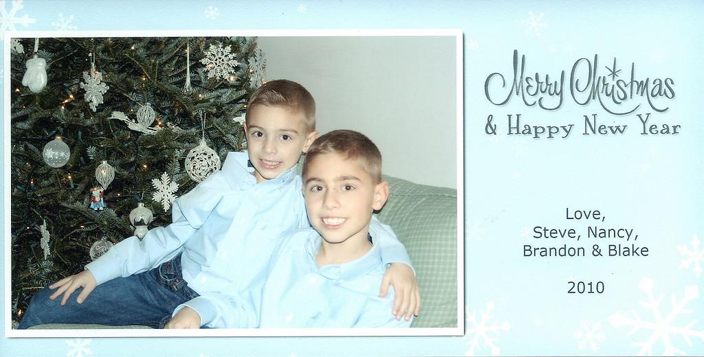 Brandon, Blake, Christmas, 2010